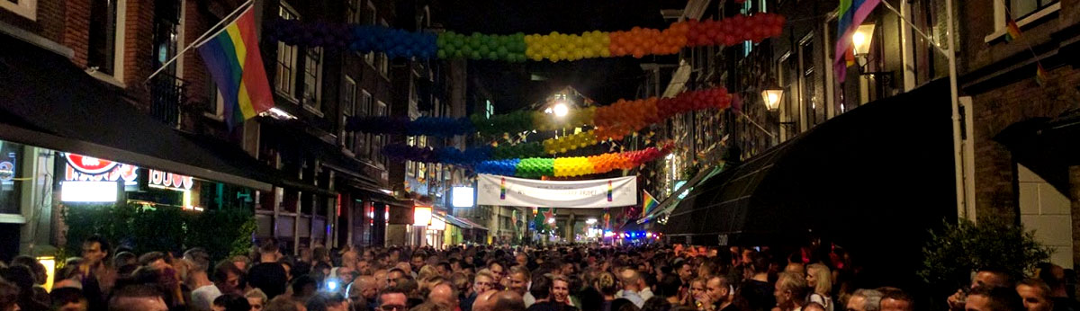 Amsterdam gay pride street party